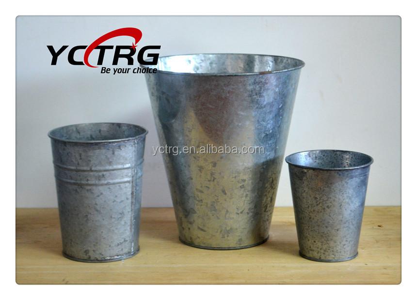 Di latta di metallo decorativi vasi di fiori da giardino for Vasi decorativi per giardino
