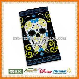 100%cotton skull beach towel