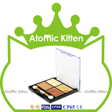 Free Sample Hot Sale Best 4 Shades Earth Tone Shining Eye Shadow