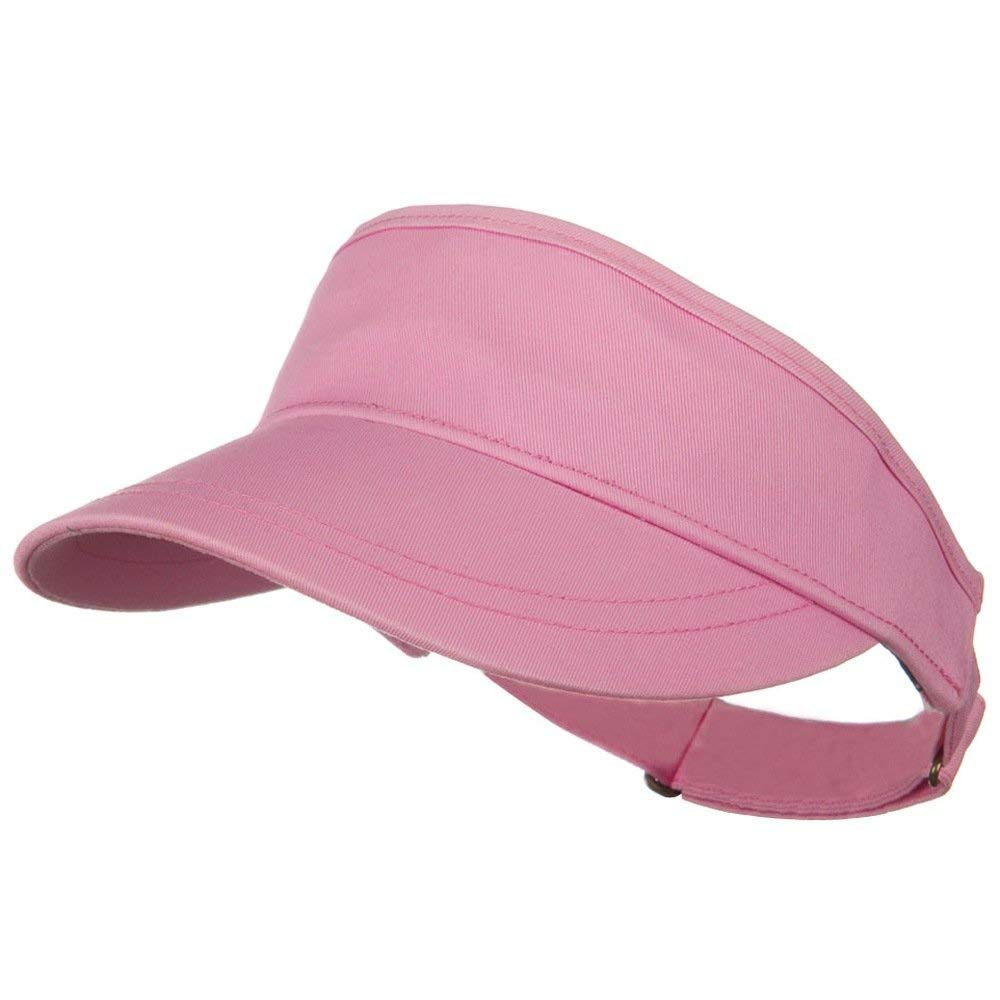 Get Quotations · Superior Cotton Twill Summer Sun Visor - Pink 50e3f2238327
