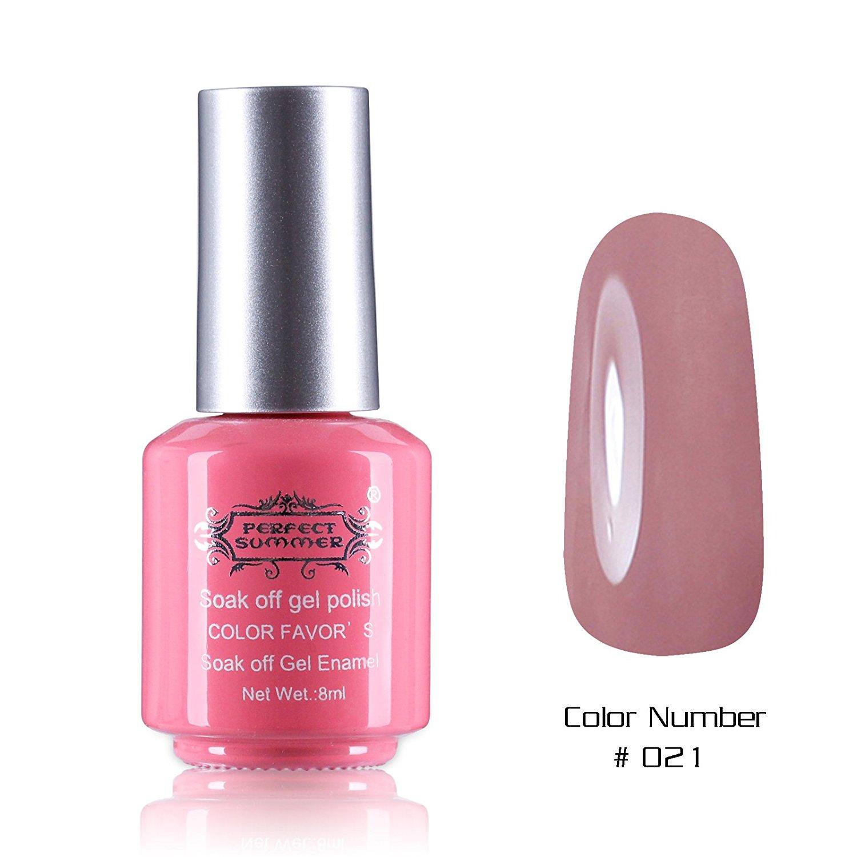 Perfect Summer New Best 8ml Gel Nails Polish Salon Artistic Painting Arts Nails Lacquers Varnish UV Led Light Soak Off Creative Perfect Match Nail Decorations #21 dark nude pink