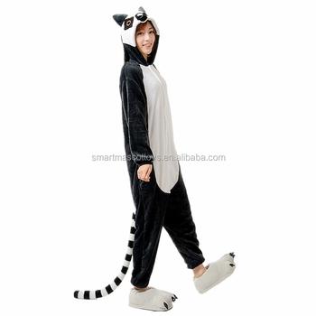 70e94927b2 Wholesale animal lemur onesie pajamas for adult cosplay one piece flannel  lemur onesie pajamas