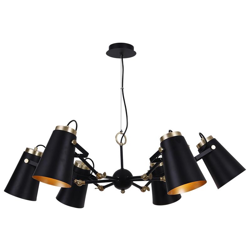 Indoor Project 6 Light Lighting Chandelier Black Pendant Lamp