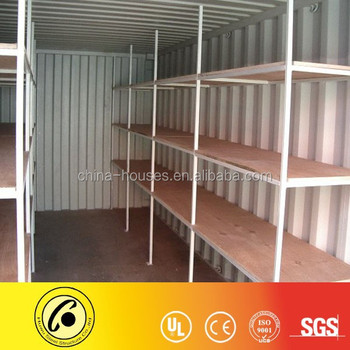 Shelf Adding Shipping Container For Storage