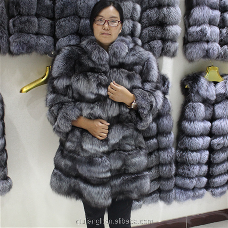 32cf8e505 Whole Skin Real Silver Fox Fur Coat Hood Long Sleeve Top Fashion Women -  Buy Silver Fox Fur Coat,Fox Fur Coat,Fashion Winter Product on Alibaba.com