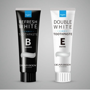 Dear Body Brand whitening charcoal toothpaste with tube