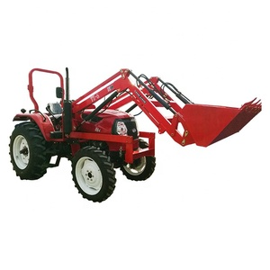 4wd compact utility farm tractor with backhoe 4 in1 bucket
