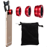 YZTEK New Coming Detachable 3 In 1 Wide Angle Macro Fisheye Mobile Phone Camera Lens