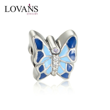 925 Sterling Silver Butterfly Pendant Charms Florida State Antique Jewellery D109