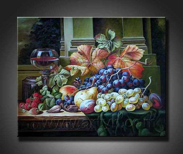 pear and grape painting
