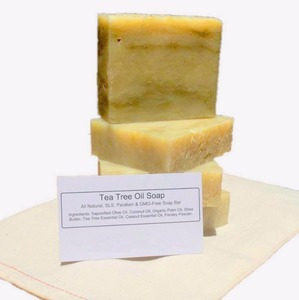 Private Label Organic Nature Handmade Bathing Tea Tree Oil Soap Bar