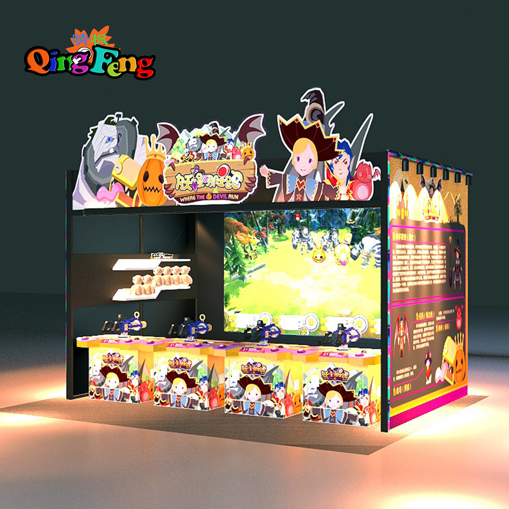 Qingfeng newest parent-child interaction kids educational game shooting simulator hunter arcade game machine