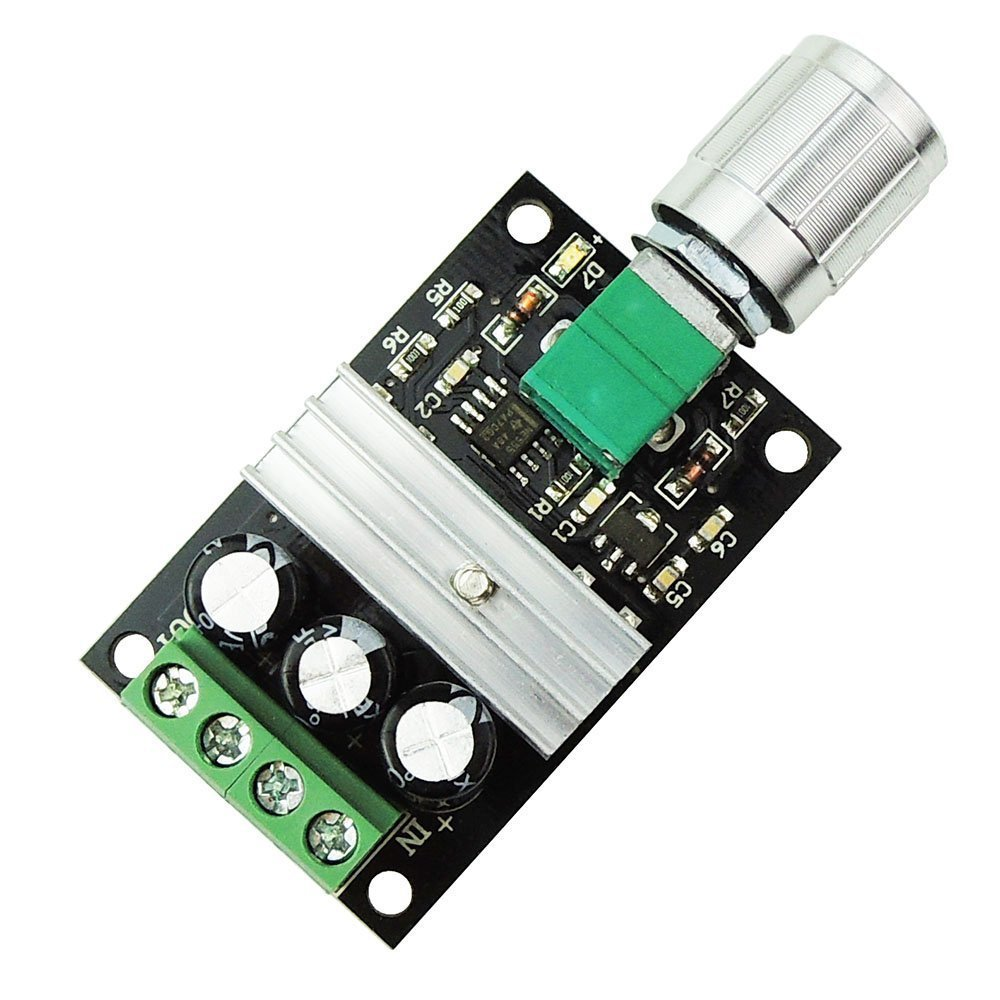 KNACRO PWM DC 3A 80W 6V 12V 24V 28V Motor Speed Switch Controller Adjustable Variable Speed Switch DC Motor Controller