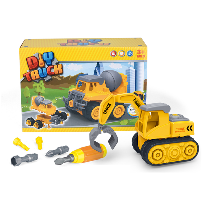 DIY dump track toy tool set toy playing car for children