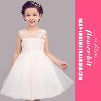 Grils Lace Tutu Dress Hot Sale Child White Flower Princess Wedding ...