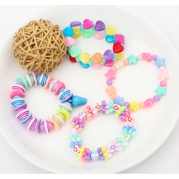 DIY Children's Handmade Puzzle Early Education Toy Material Beads For Making Girls Bracelet Necklace And Amblyopia Training
