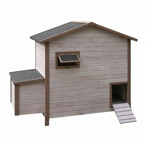 Wooden outdoor sliding doors poultry house