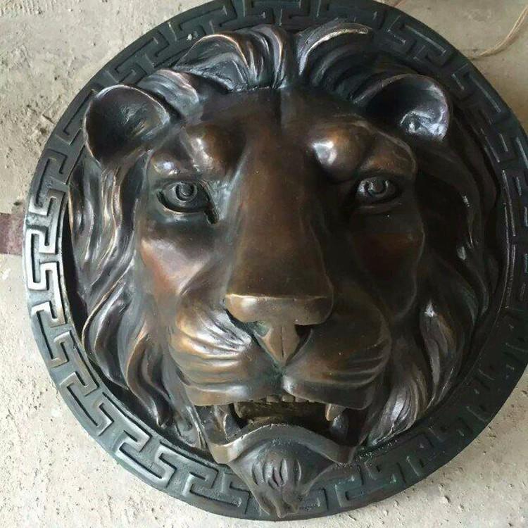 China Supplier Home Art Deco Metal Brass Lion Head Sculpture ...