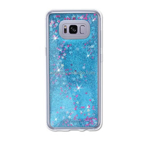 Free Sample Glitter Stars Quicksand Hard PC+TPU Mobile Phone Case For galaxy s8/s8 plus case