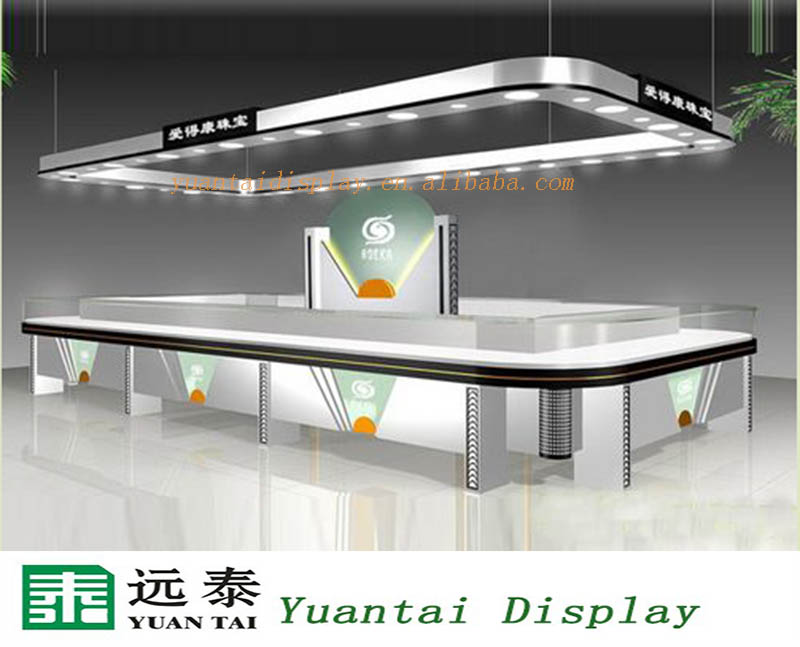 Luxury Retail Jewelry Shop Interior Design Glass Top Case