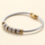 Fashion leather Magnet Clasp Bracelet Jewelry Crystal Charm Stainless Steel  Bracelets for women