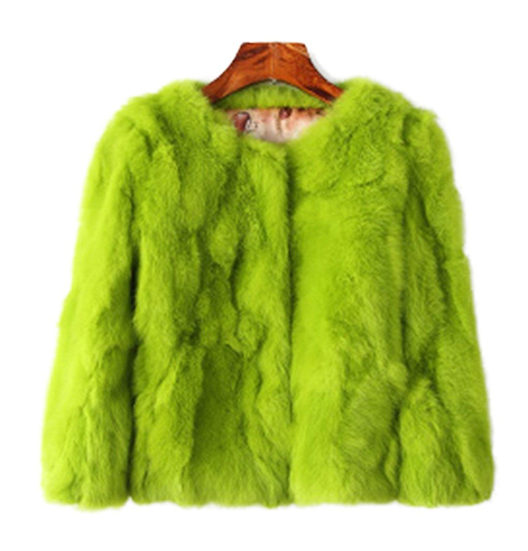 244e5d01050 Get Quotations · Luxury Fur Simple Vintage Fluffy Faux Fur Coat Women Short  Furry Fake Fur Winter Outerwear Casual