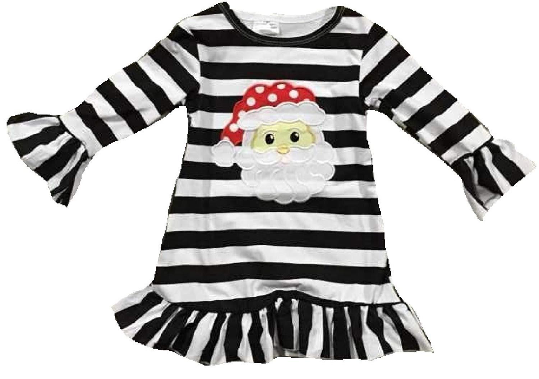 d0e27d380e2ef Get Quotations · Little Girl Dress Kids Stripe Santa Claus Special Occasion  Christmas Girl Dress