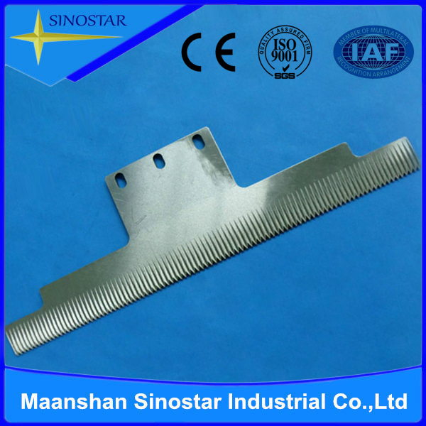 packing machine T type serrated knives