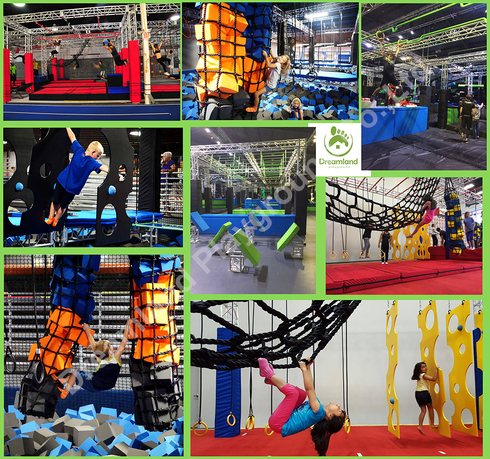 Customized Ninja Warrior Obstacles Course Items for Kids and Adults