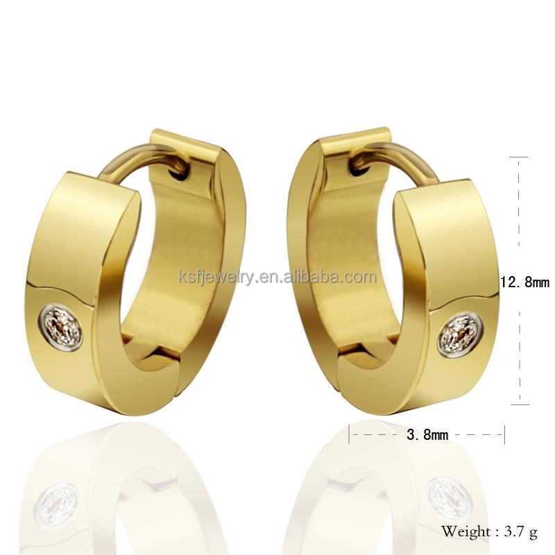 Fashion Earring Designs New Model Gold Earrings For Women And Men