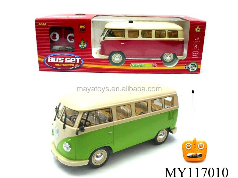 Hot Selling RC 4CH Musical model bus Remote control Bus Toys with Light ,included battery