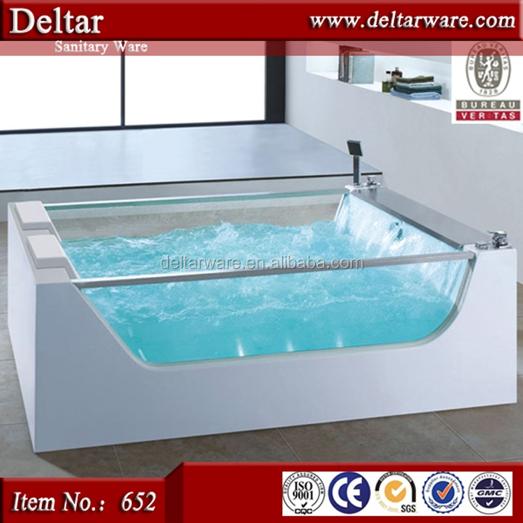 wholesale hot tubs, acrylic bathtub for bathroom, whirlpool hydro massage free-standing double glass bathtub price