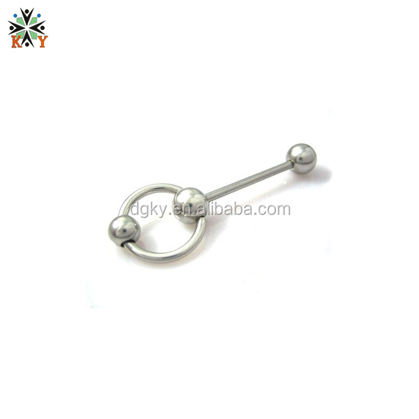 steel color barbell ball rings tongue piercing price