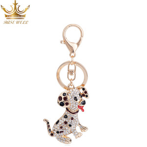Keychain Accessories Metal Cute Cartoon Couple Lover Animal Dog Pendant Keychain