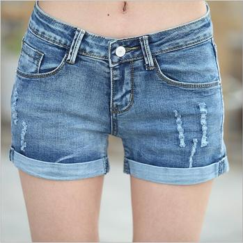 Zm50328a Sexy Tight Shorts Girls Tight Jeans Shorts