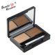 Double colors embossing high quality professional waterproof eyebrow powder make your logo eybrow kit wholesale
