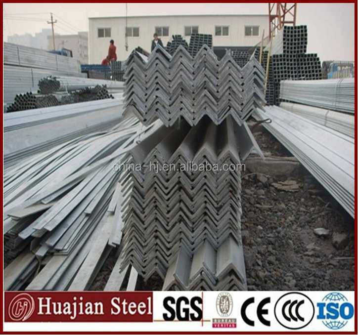 ASTM/A36/SS540 standard dipped galvanized angle iron sizes hot rolled gi equal and unequal steel angles/irons