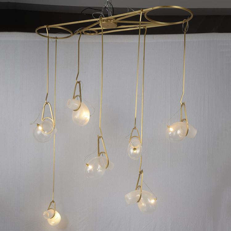 <strong>Modern</strong> led catch antique brass finish copper pendant lighting