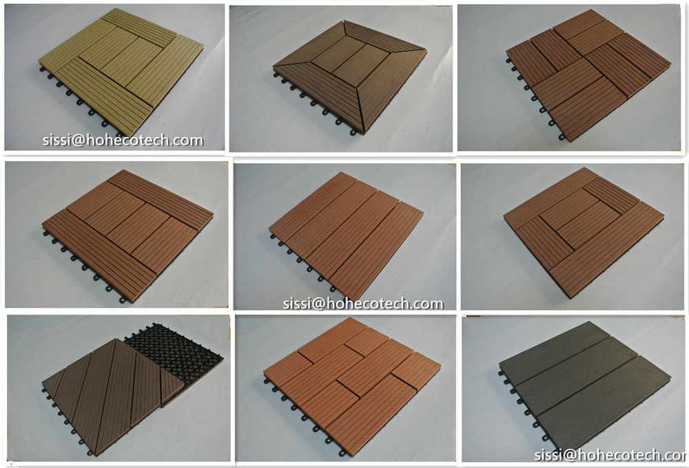 easy install wpc wood plastic composite patio deck tile