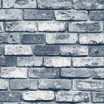 Best Price Grey White Brick Wallpaper