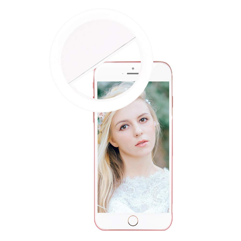 Ring Light Camera [Rechargable ]-Cellphone LED Selfie Ring Light [ 36 LED] Universal Ring Mounted for iPhone Samsung Usable for Video or Photos