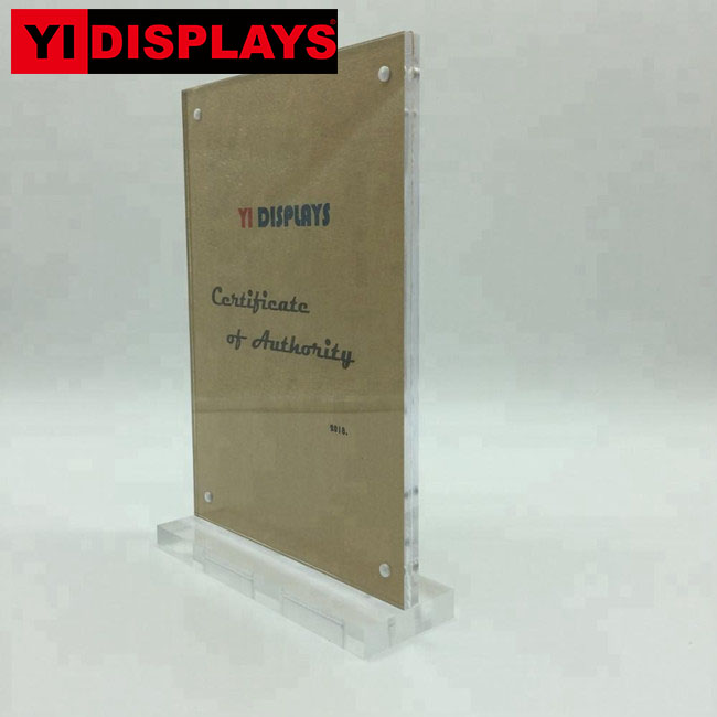 Acrylic tabletop pop sign holder display hotel display sign stands sign stand display