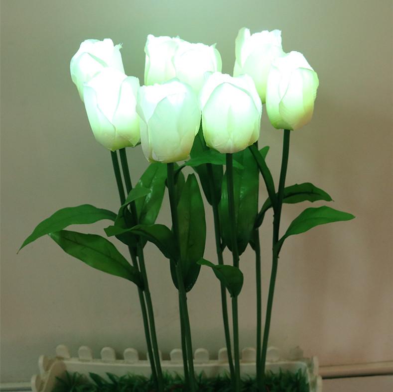 forma de la flor led del tulipn tipo plaza jardn al aire libre csped decoracin tulip