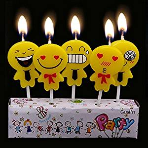 Get Quotations Ecape Birthday Candle Boxes Consist Of 5 Someting Like Pegman Candles For Kids Cake