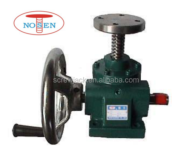 NOSEN mini manual worm gear screw jack with hand wheel for easy operation