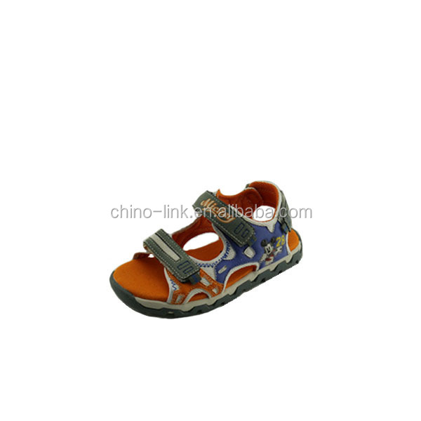 Mickey fashion boys sandals china and cheap child sandals boys pu sandals