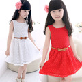 Baby Girls Kids Summer Cute Lace Floral Hollow Clothes Sleeveless Princess Party Wedding Solid Costume Vest