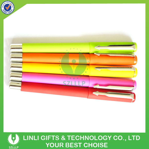 Custom Cheap Slim Print Logo Rainbow Brand Ballpoint Pen, Hot Selling Top Quality Rainbow Brand Ballpoint Pen