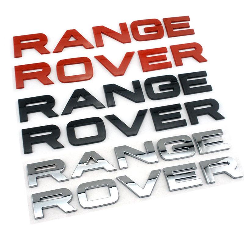 3d head emblem badge sets for range rover hood cover car stickers for land rover letter logo for. Black Bedroom Furniture Sets. Home Design Ideas