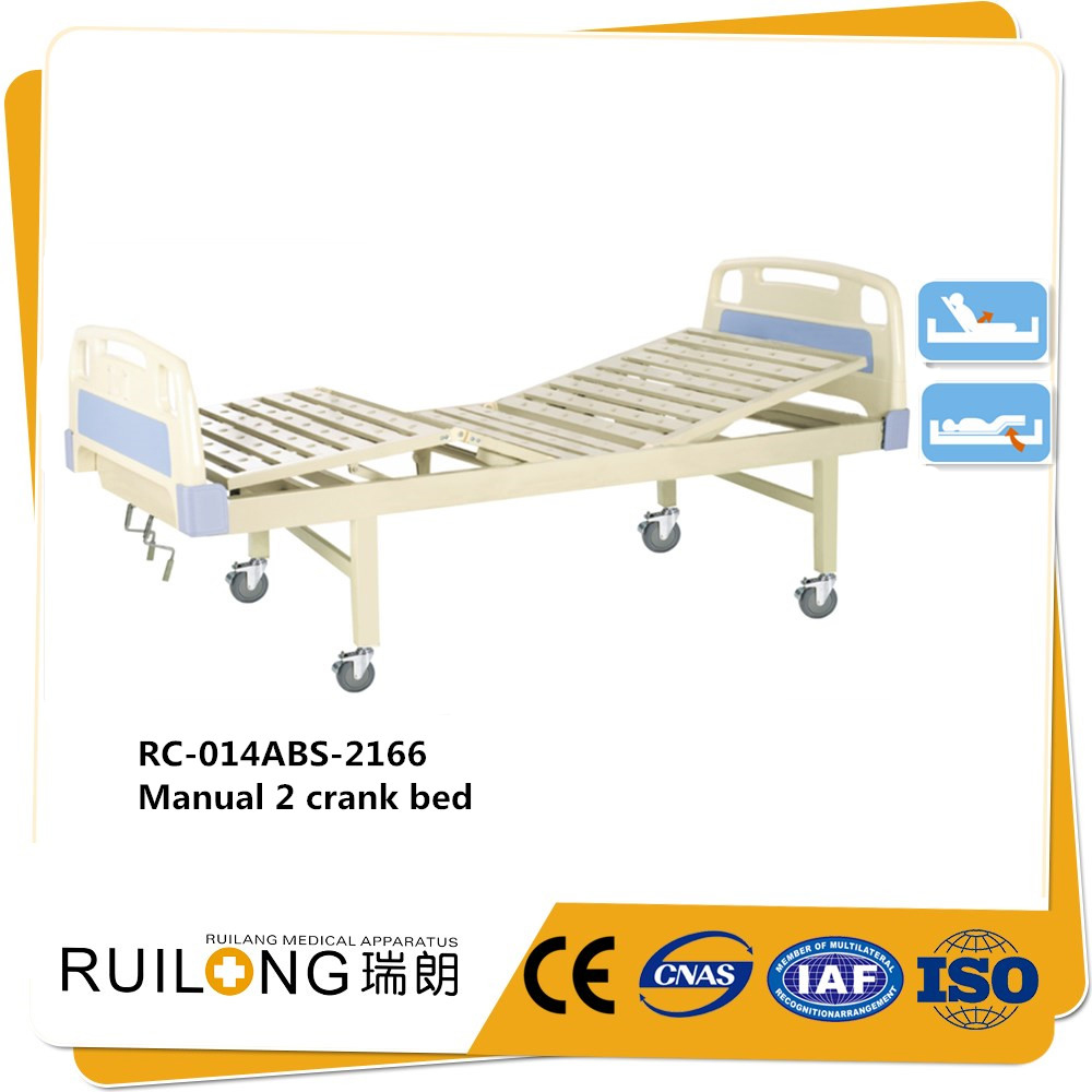 ABS Bedhead 2 Cranks Hospital Manual Simple Bed